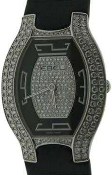 Ebel Beluga Tonneau White Gold Diamond Womens Watch