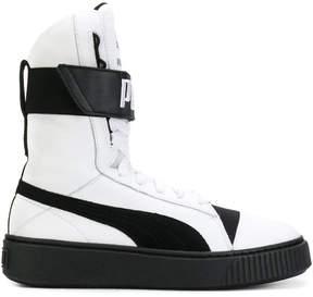 Puma two tone hi-top sneakers