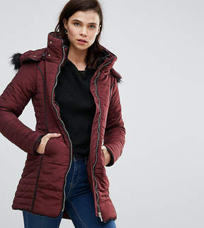 Brave Soul Tall Short Zip Fitted Coat