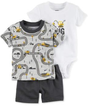 Carter's 3-Pc. T-Shirt, Shorts & Bodysuit Cotton Set, Baby Boys (0-24 months)