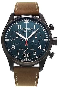 Alpina Startimer Pilot Big Date (Blue Dial Black Case) 44 mm Mens Watch
