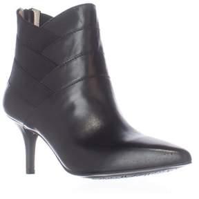 Adrienne Vittadini Sande Cross Straps Dress Ankle Booties, Black.