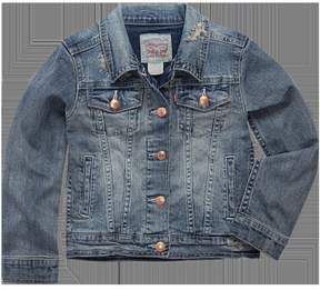 Levi's Girls 4-6x Distressed Trucker Jean Jacket