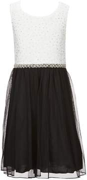 Xtraordinary Big Girls 7-16 Lace/Tulle Fit-And-Flare Dress