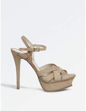 Office Nostalgia nubuck heeled sandals