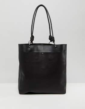 Asos DESIGN Leather Knot Handle Shopper