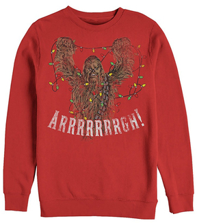 Fifth Sun Star Wars Red Wookie Tree Crewneck Sweatshirt - Men's Regular