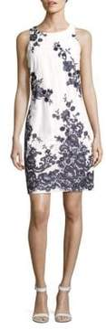 Donna Ricco Printed Cotton Mini Dress