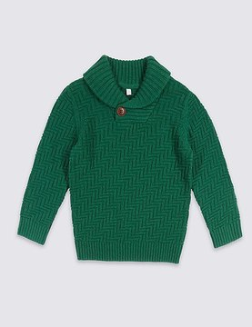 Marks and Spencer Cotton Rich Jumper (3 Months - 6 Years)