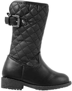 Joe Fresh Baby Girls' Quilted Boots, Black (Size 5)