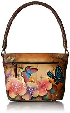 Anuschka Anna by Women's Genuine Leather Large Hobo Shoulder bag | Hand Painted Original Artwork | Zip-Top Organizer |