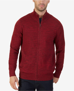 Nautica Men's Mock-Neck Full-Zip Cardigan Sweater