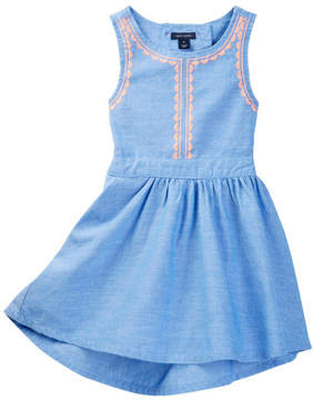 Tommy Hilfiger Chambray Embroidered Dress (Toddler Girls)