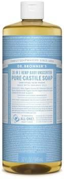 Dr. Bronner's Unscented Baby-Mild Pure Castile Soap - 32 oz.