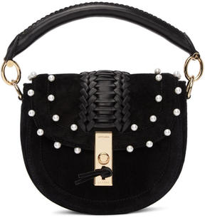 Altuzarra Black Mini Ghianda Pearl Bag