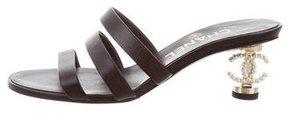 Chanel 2017 Summer CC Slide Sandals