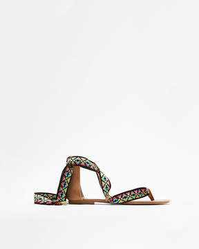 Express Geometric Interchangeable Ribbon Sandals