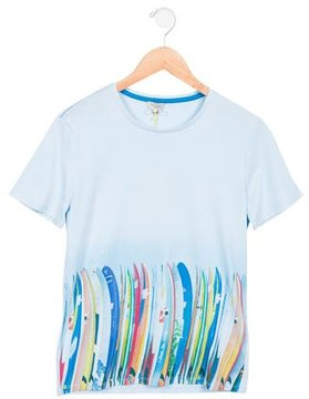 Paul Smith Boys' Lucas Surfboard Print T-Shirt w/ Tags
