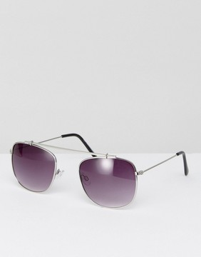New Look Sunglasses With Brow Bar In Silver