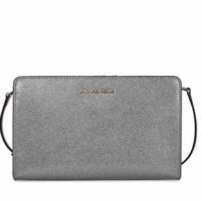 Michael Kors Jet Set Large Crossbody Clutch - Light Pewter