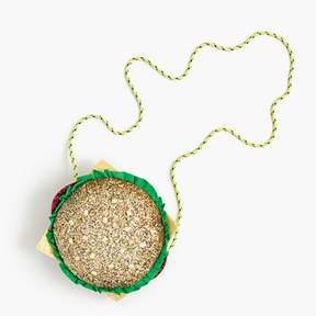 J.Crew Girls' glitter hamburger bag