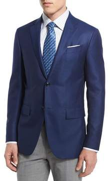 Ermenegildo Zegna Two-Button Wool Blazer, Royal