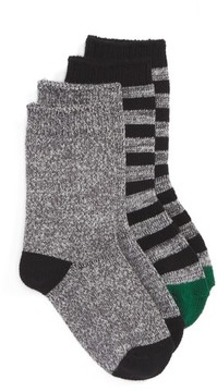 Tucker + Tate Boy's Assorted 2-Pack Crew Socks