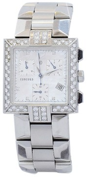 Concord La Scala 14.H1.1371 Stainless Steel MOP & Diamond 30mm Watch