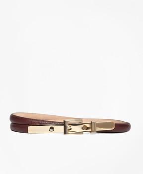 Brooks Brothers Skinny Leather Belt