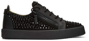 Giuseppe Zanotti Black Rhinestone May London Sneakers