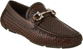 Salvatore Ferragamo Parigi Woven Leather Driver