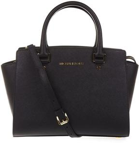 MICHAEL Michael Kors Selma Medium Saffiano Leather Satchel - BLACK - STYLE
