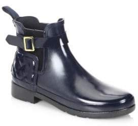 Hunter Refined Gloss Chelsea Quilted Rain Boots