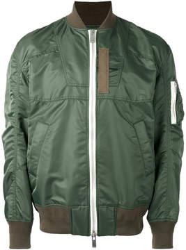 Sacai paneled bomber jacket