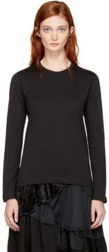 Comme des Garcons Black Long Sleeve Cotton T-Shirt