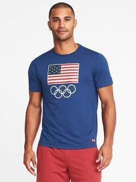 Old Navy Go-Dry Team USA® Flag Tee for Men