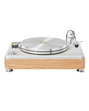 Shinola The Runwell White Oak Wood Turntable, Silver/Oak