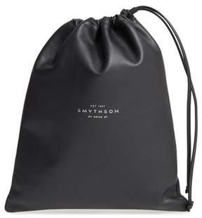 Smythson Large Leather Pouch - Black