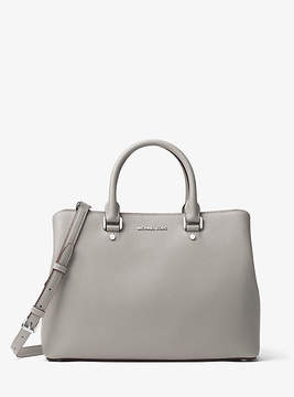 Michael Kors Savannah Large Saffiano Leather Satchel - GREY - STYLE