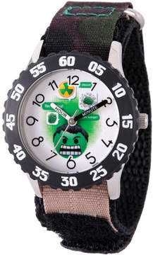 Marvel Emoji Boys Black Strap Watch-Wma000085
