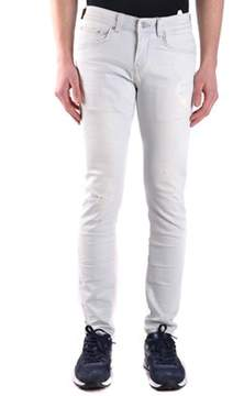 Brian Dales Men's White Cotton Jeans.