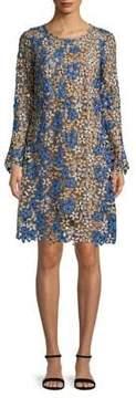Shoshanna Floral Long-Sleeve Dress