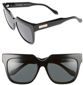 Sonix Women's Avalon 57Mm Retro Sunglasses - Black/ Black Solid