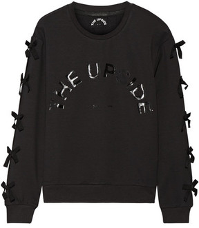 The Upside Bowie Bow-embellished Cotton-blend Jersey Sweatshirt - Black
