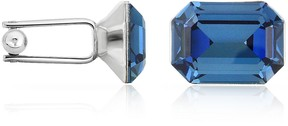 Forzieri Silver-Plated Crystal Cuff Links