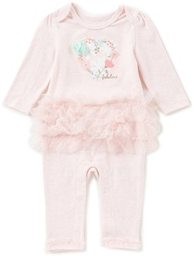 Baby Starters Baby Girls Newborn-9 Months Floral Fabulous Ruffled Coverall