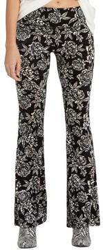 Billabong Women's Turn Me Round Floral Print Velvet Flare Pants
