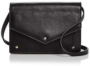 Sara Battaglia Plissé Mini Leather Clutch
