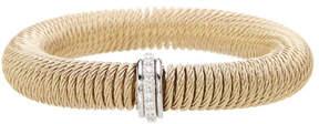 Alor 18K White Gold Diamond Detail Stretch Bracelet - 0.12 ctw
