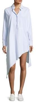 Frank And Eileen Drake Long-Sleeve Asymmetric-Hem Shirtdress